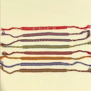 Jewelry - Tribal felt bracelets of assorted colors